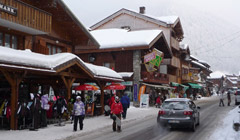 Morzine town mid-winter
