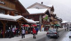 Morzine town mid-winter