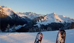 Ski view of the piste